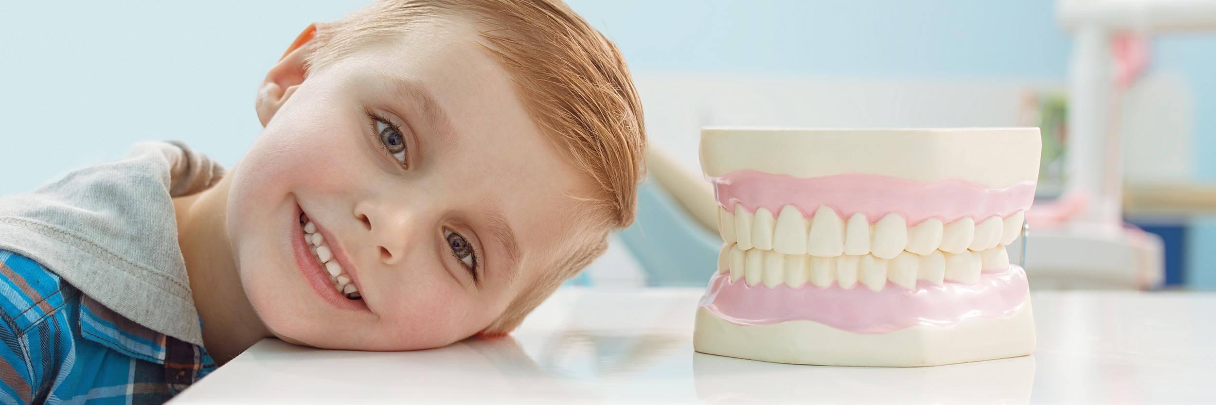Calm boy at the dentist