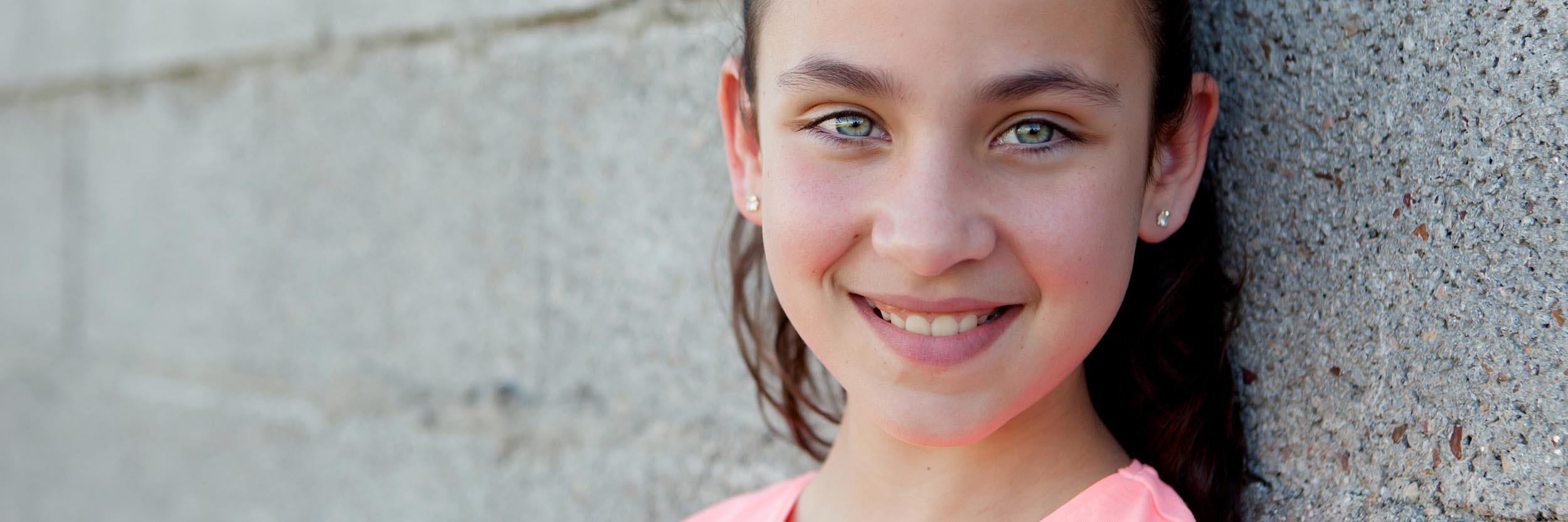 Girl with white smile